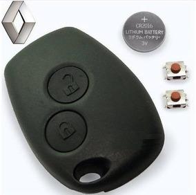 Capa Controle + Botões + Bateria Renault Sandero Logan