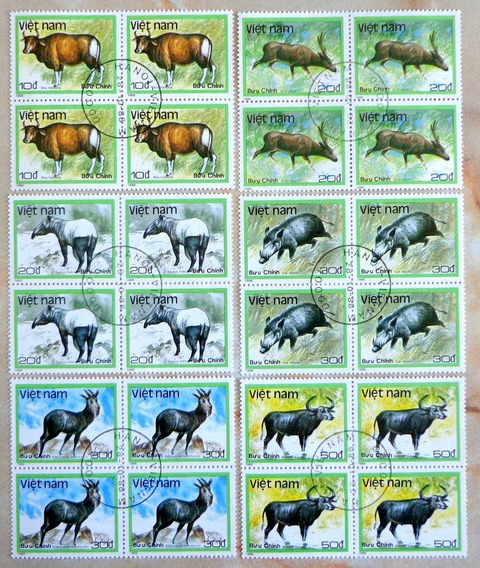 Vietnam Fauna, Serie Sc. 1885-90 Cuadros 1988 Usada L8003
