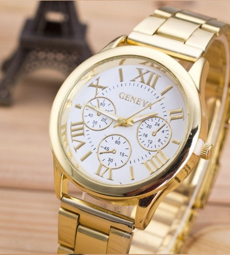 Relógio Unissex De Luxo Geneva S-07