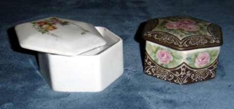 Porcelana. Porta Objetos En Vasijas Decoradas. # 71