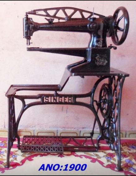 Máquina De Costura Sapateiro Muito Antiga