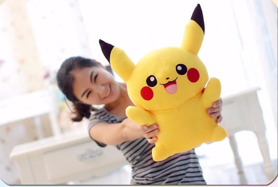 Pokemon Go Picachu Pelúcia 22cm Pokebola Pronta Entrega