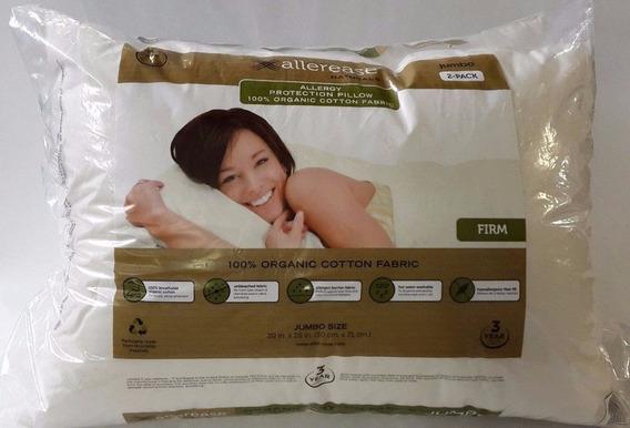 Paquete 2 Almohadas Algodon Organico Anti Alergia