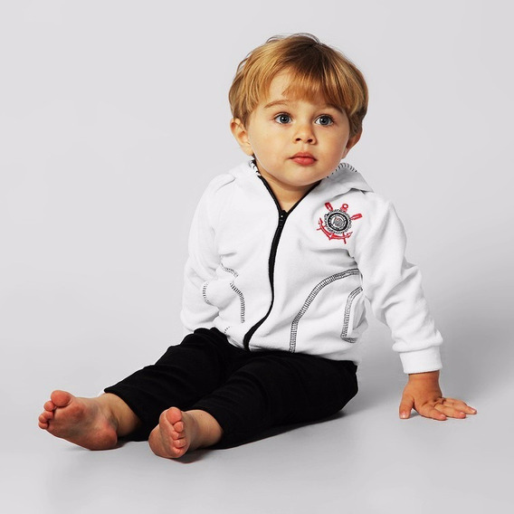 Conjunto Do Corinthians Bebê Oficial E Licenciado, Menino