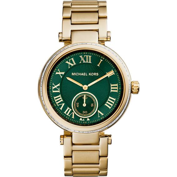 Relógio Michael Kors Mk6065 Orig Chron Anal Ouro&swarovski!