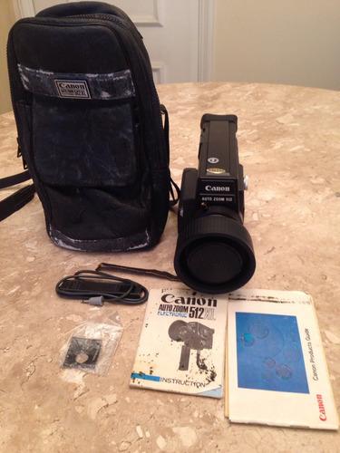 Câmera Filmadora Canon Auto Zoom 512xl Japan Com Manual Rara
