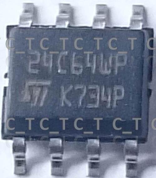 Memoria Eprom Soic 8 24c64 - 3 Unidades