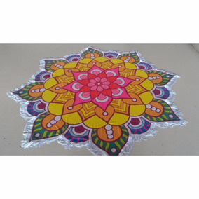 Toalha De Praia Flor Colorful Mandala