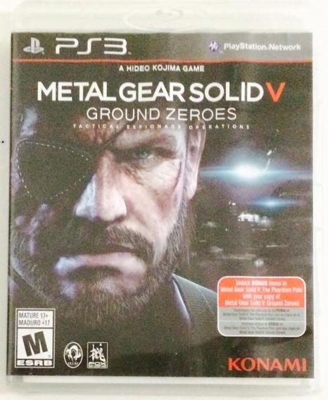 Metal Gear Solid 5 Ground Zeroes Ps3 Mídia Física