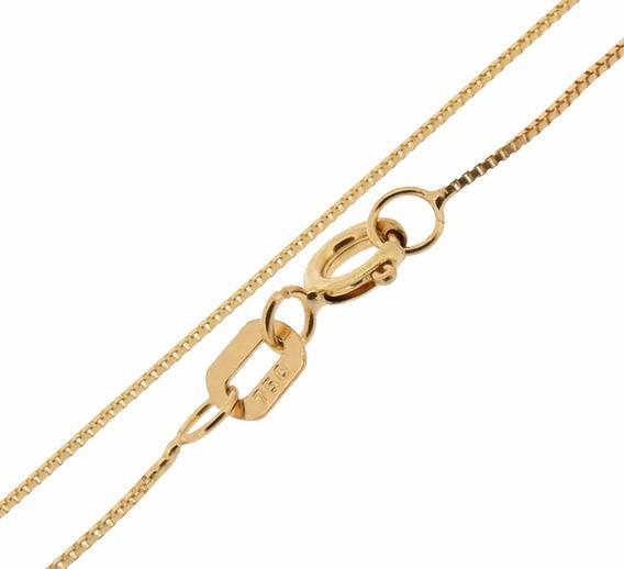 Colar Cordão Ouro 18k Veneziana 45cm-frete + Caixinha Velu