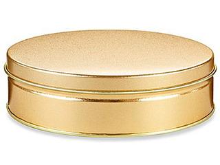 Caja Con 24 Latas Decorativas Para 453 Gramos Color Dorado