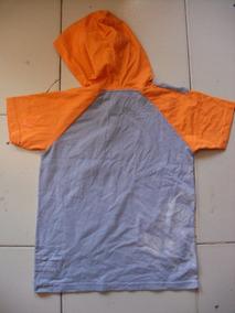 Camiseta Talla Ch Para Niño Marca Disney Gris Con Naranja