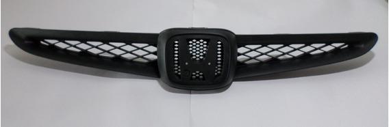 Grade Radiador Preta Sem Emblema Honda Fit 03/06 Original