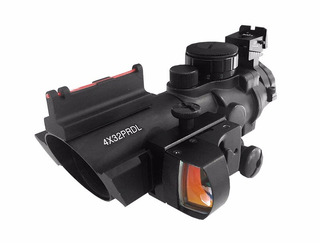 Acog Mira Holográfica Com Mini Red Dot Titan 4x32 Prdl 20mm