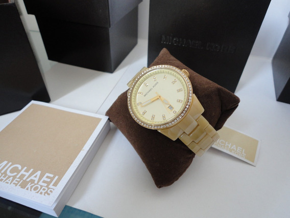 Relógio Michael Kors Mk5255 Bege Original - Frete Gratis