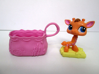 Littlest Pet Shop Jirafa Mcdonald 2011 Impecable Bolsa Boedo