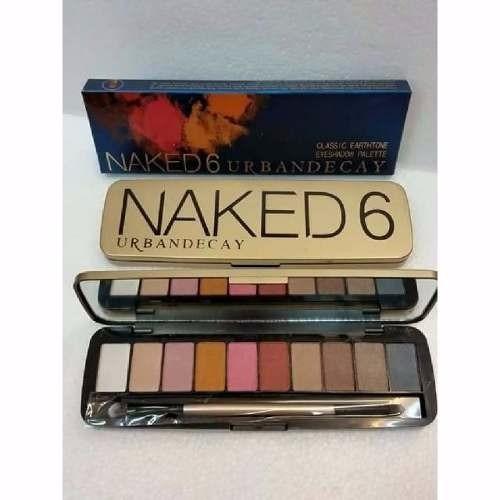 Maquillaje Naked 6, Paletas De Coleccion Vida A Su Mirada