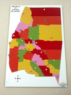Rompecabezas Mapa Santiago Del Estero En Madera