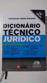 Dicionário Jurídico + Cd-rom - Editora Rideel