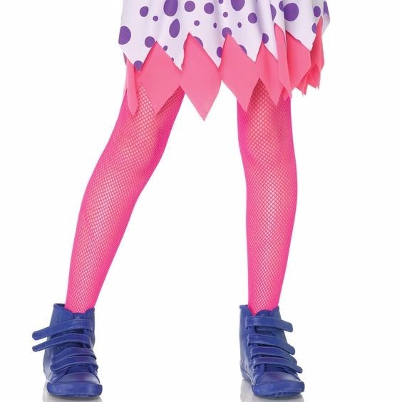 Meia-calça Arrastão Rosa Pink Infantil 3 A 7