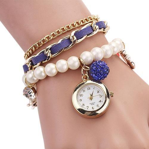 Reloj Pulsera Vintage Hermoso Para Mujer En Stock