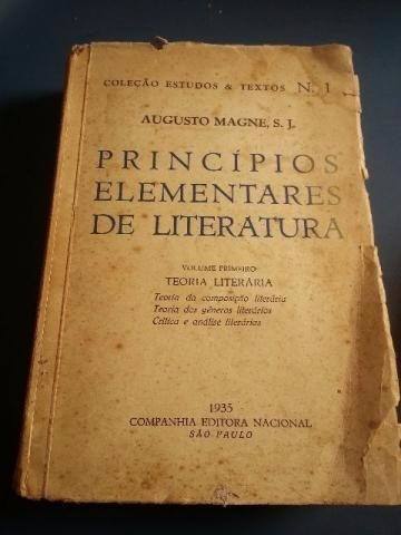 180- Princípios Elementares De Literatura - Augusto M. 1935