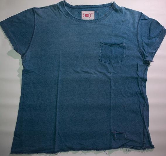 Remera Gap Red M/corta Azul Jean Talle M