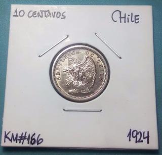 Moneda 10 Centavos Chile - 1940 /km#166