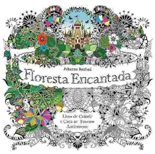Imagem 1 de 1 de Floresta Encantada Livro Colorir Antiestresse