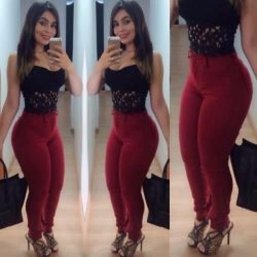 Kit 3 Calças Jeans Feminina Com Lycra Elastano Cintura Alta
