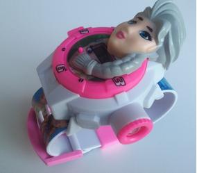 Relógio Infantil Com Projetor Imagem Brinquedo Frozen Elsa