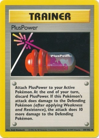 Pluspower - 84/102 - Uncommon Unlimited Near-mint