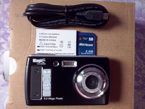 Câmera Digital Multilaser Magic View Dc888 Preta C/ 8mp, Lcd