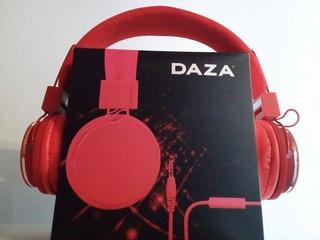 Auriculares Daza Plegables, Cable Detachable, Microfono