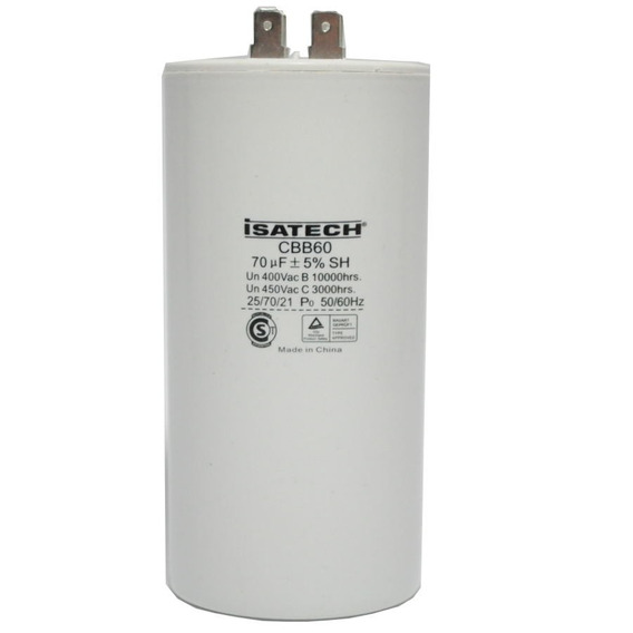 Capacitor Marcha 70uf Microfaradios 400v 50/60hz Isatech