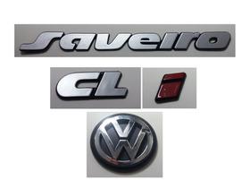 Kit Emblema Volkswagen Saveiro Cl I Logo Vw Mala 90/97