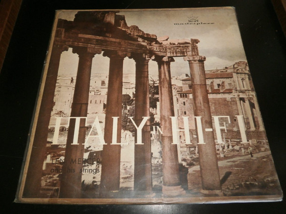 Capa Lp Len Mercer - Italy In Hi-fi, Disco Vinil - Obs