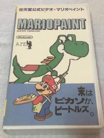 Fita Vhs Original Nintendo Mario Paint Japones Com Caixa