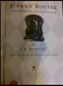 Primeira Edição Americana Harry Potter A Ordem Da Fênix