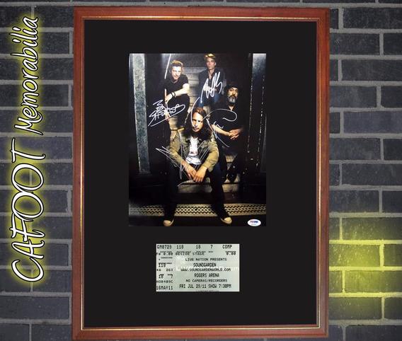 Cuadro Soundgarden Foto Con Firmas Mas Ticket Concierto 2011
