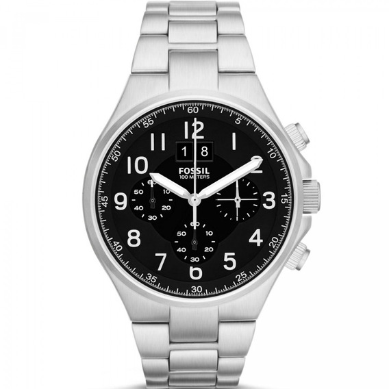 Relógio Analógico Masculino Fossil Ch2902/1pn Cronógrafo Aço