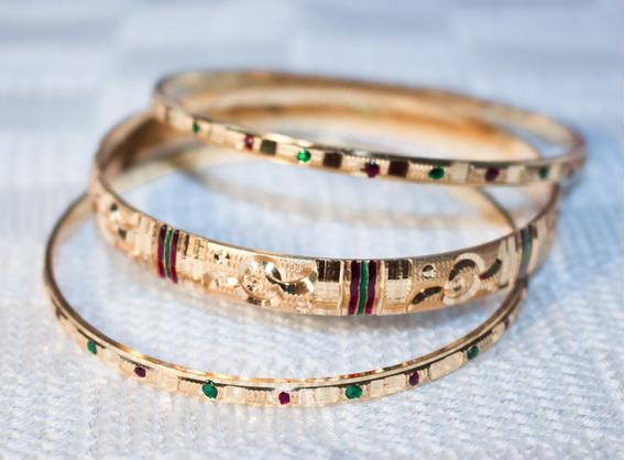3 Pulseiras Importadas Da Índia Estilo Meenakari Braceletes
