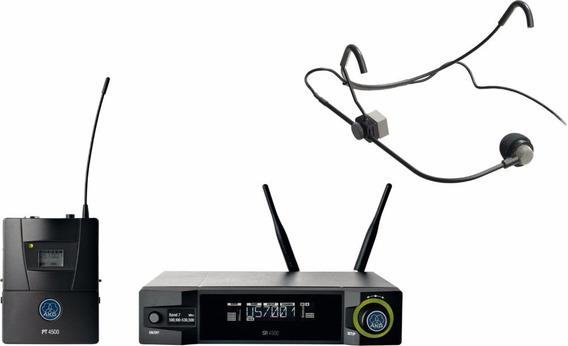 Akg Wms4500 Cm311 Kit Microfone Sem Fio Crown Headset Shure