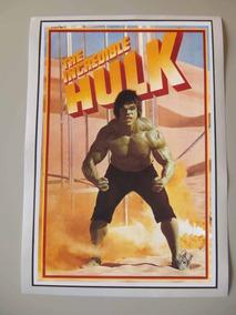 Hulk Poster Lou Ferrigno Seriado Anos 70