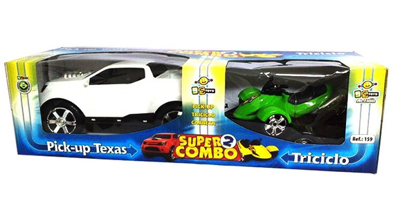 Carro De Brinquedo Pick-up Texas Super Combo 2 Com Triciclo