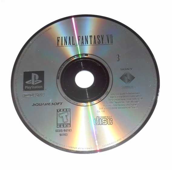 Final Fantasy Vii Disco 3 Greatest Hits Original Ps1 Cr $15