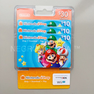 Tres Nintendo Eshop 10 En Total U$30 Para 3ds Switch Y Wiiu