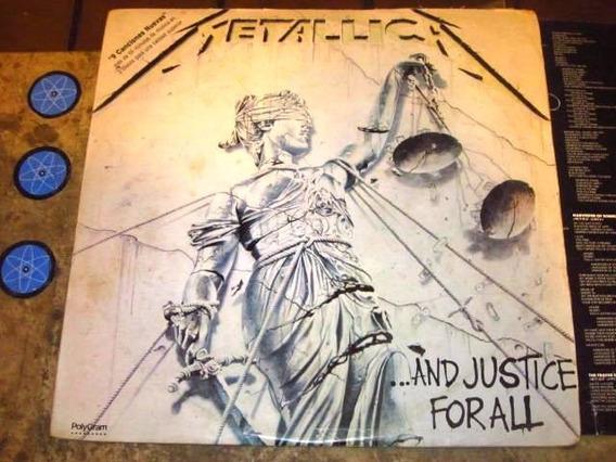 Lp Duplo Imp Metallica - And Justice For All (88) C/ Encarte