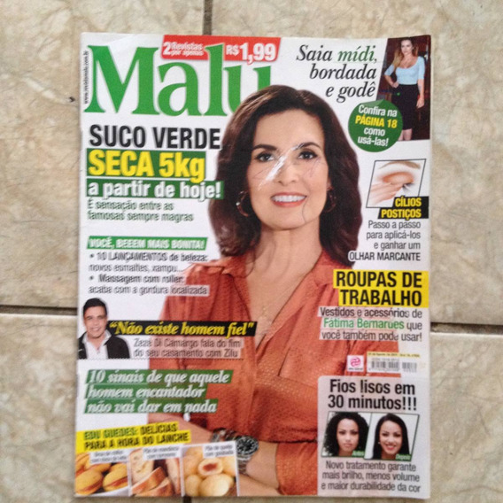 Revista Malu 530 Fátima Bernardes Suco Verde Zezé De Camargo