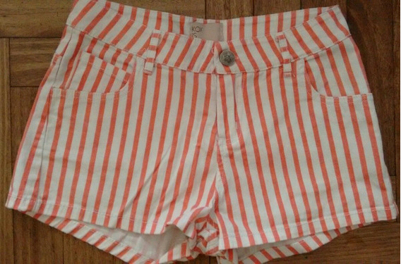 Short Koxis Jean Rayado Talle 36/s Impecable